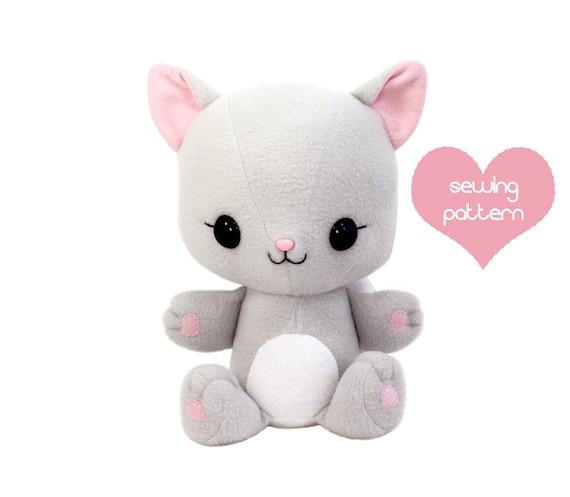 Pdf Sewing Pattern Cuddle Kitten Stuffed Animal Easy Cat Etsy