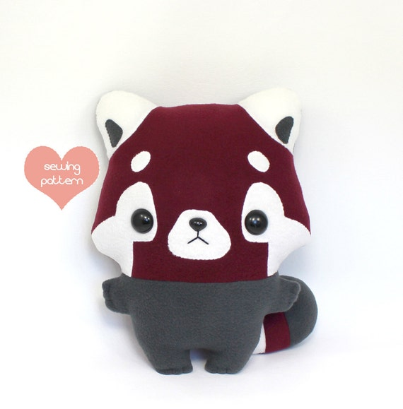 Pdf Sewing Pattern Red Panda Stuffed Animal Easy Beginner Etsy