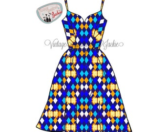 Buttered Toast all over print, Sweetheart Swing Dress
