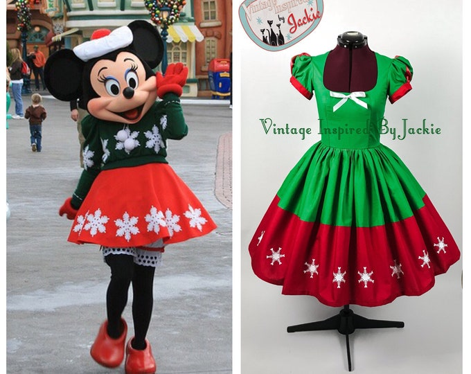 Featured listing image: Minnie Mouse Holiday Bound dress