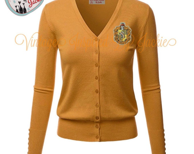 Featured listing image: Hufflepuff Cardigan pre-order
