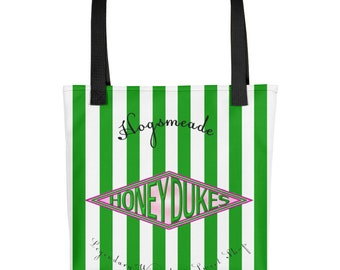 Green Stripe Candy Shop Tote bag