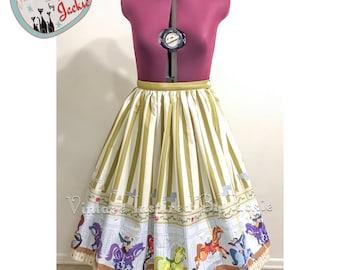 Poppins, Border Print Full Skirt