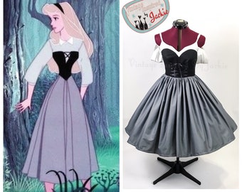 Briar Rose inspired Disney Bound dress