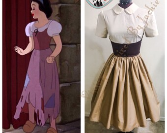 Snow White Rags Pan Collar Disney Bound Dress