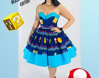 Sample Size 6 Nintendo prize Boxes Sheet dress