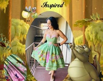 Strapless Frog Princess dress