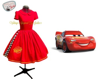 Lightning Mcqueen Peter Pan Collar Dress