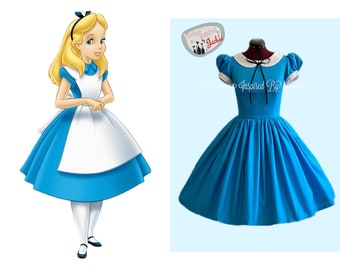 Alice in Wonderland Peter Pan Collar Inspired Dress