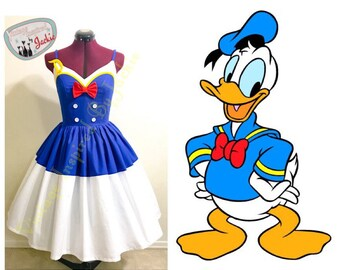 Donald Sailor dress inspired Disney Bound dress