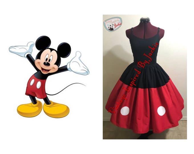 SAMPLE SIZE 16 Mickey mouse Disney Bound dress