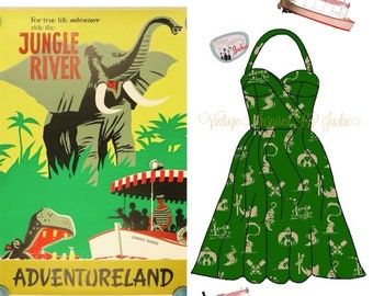Jungle Cruise Halter Dress
