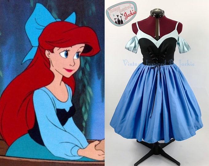 Little Mermaid blue inspired Disney Bound dress