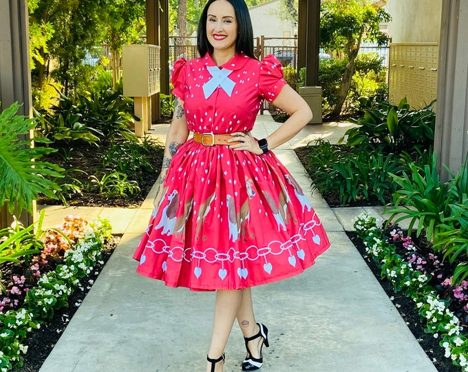 Featured listing image: Novelty Dogs 2 piece Blouse and Skirt Set