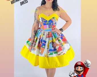 Sample Size 6 Mario and Zelda Sheet dress