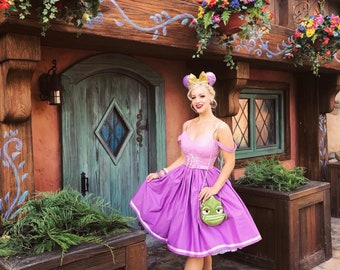 Rapunzel inspired Disney Bound dress