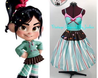 Vanellope inspired Disney Bound dress