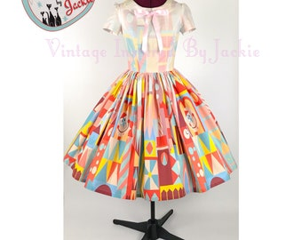 Clockface disney bound Inspired Dress