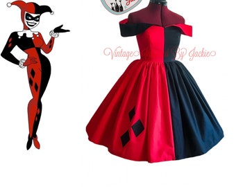 Harley Quinn Inspired Dress