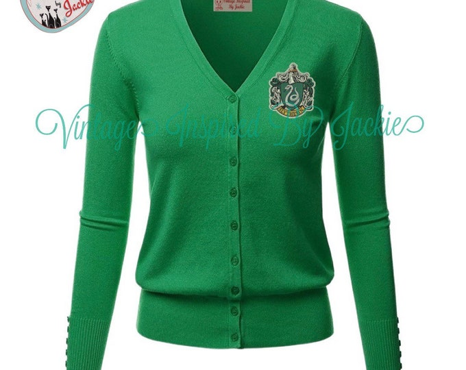 Featured listing image: Slytherin Cardigan pre-order