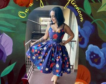 Pre-Order Festival of Flowers all over print, Sweetheart Swing Dress