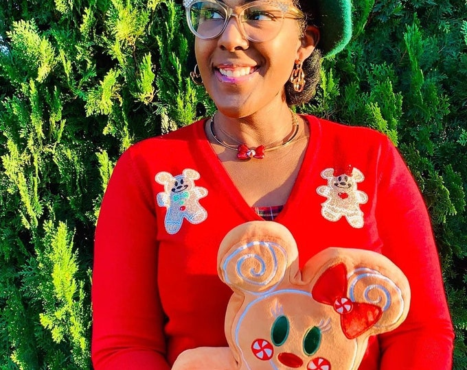 Featured listing image: Gingerbread themed Cardigan pre-order