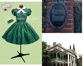 Haunted Mansion inspired 2 piece Blouse and Skirt Set