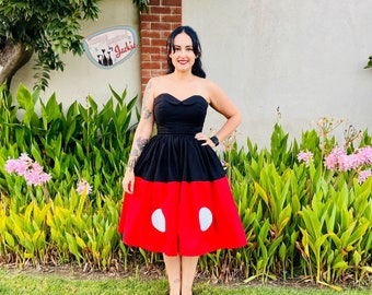 Strapless Mickey  Disney Bound dress