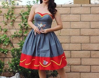 Strapless Dumbo Disney Bound dress