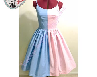 Good Fairy Fight Blue and Pink dress