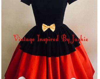Mouse Tuxedo Bound Inspired Dress