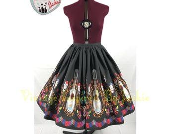 Guitar Border Print Full Skirt