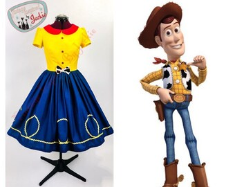 Peter Pan Collar Sheriff Woody disney bound Inspired Dress