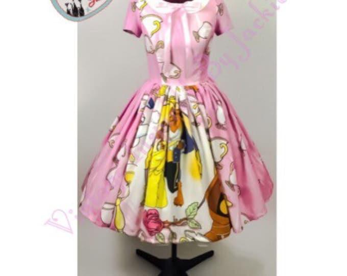 Beauty and the Beast Peter Pan Collar Sheet Dress