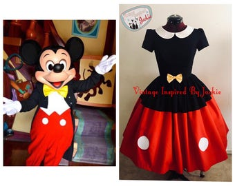 Mouse Tuxedo Bound Inspired Dress