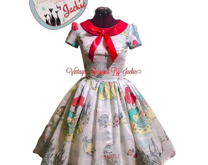 Little Mermaid Peter Pan Collar Inspired Dress