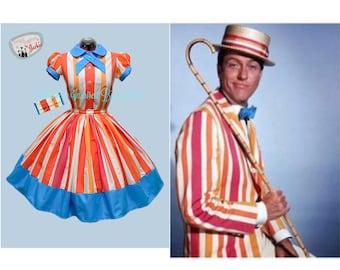 Bert inspired 2 piece Blouse and Skirt Set