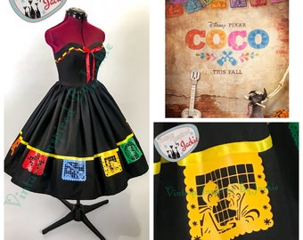 Coco Strapless Storybook  Disney Bound Inspired dress