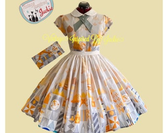 Clockface Two piece Blouse and Skirt Set