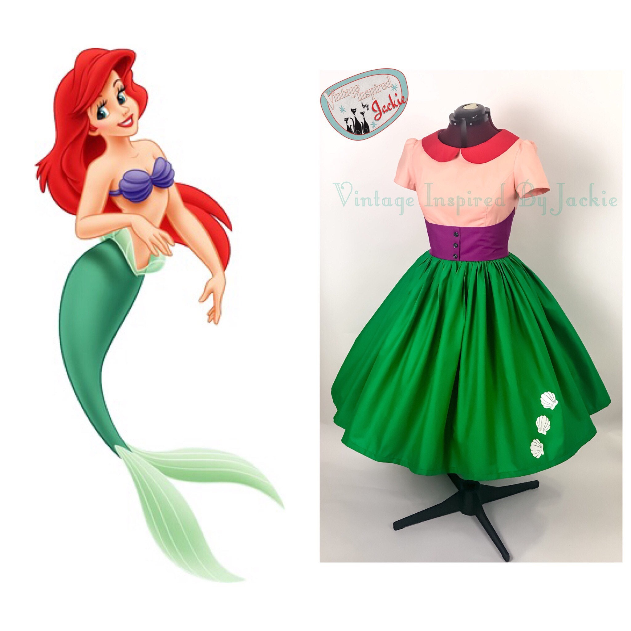 Inspired Ariel dress exclusive photo