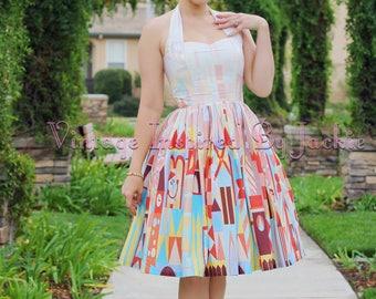 Clockface Halter Dress