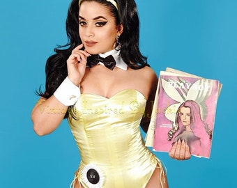 Playboy Bunny Costume, Vintage Inspired  Reproduction