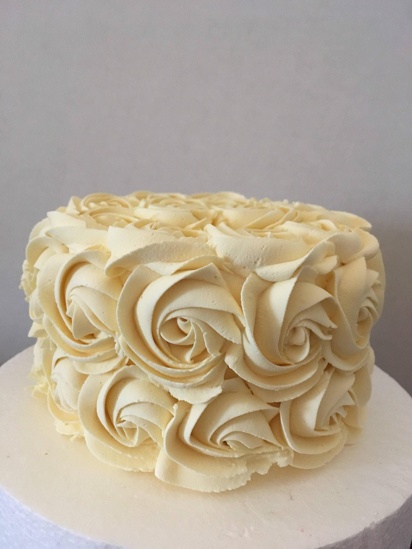 White-off fake cake. Rosette fake cake. 5x3 | Etsy