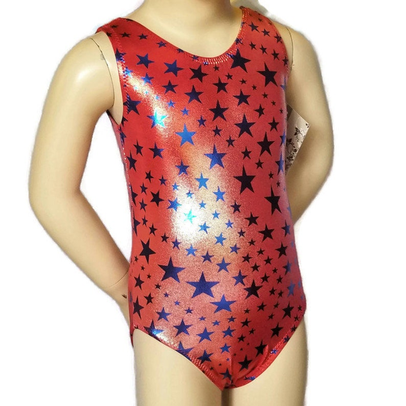 c09ef4677 2T Gymnastics Leotard Girls Red Ombre Hologram Gymnastics