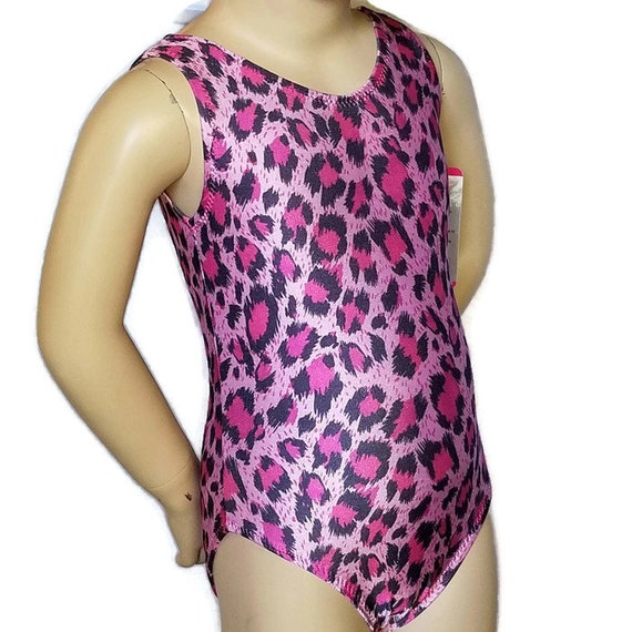 2t toddlers size Ready to ship Gymnastics leotard and shorts Pink and Purple Leopard