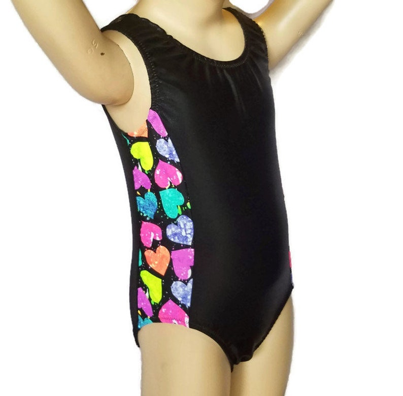 7588d9a13 Gymnastics Leotard for Girls   New Shiny Black Mystique