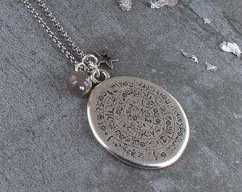 Silver Large Amulet Necklace
