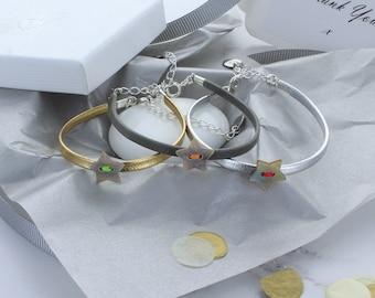 Star Leather Bracelet