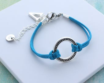 Personalised Studded Hoop Friendship Bracelet