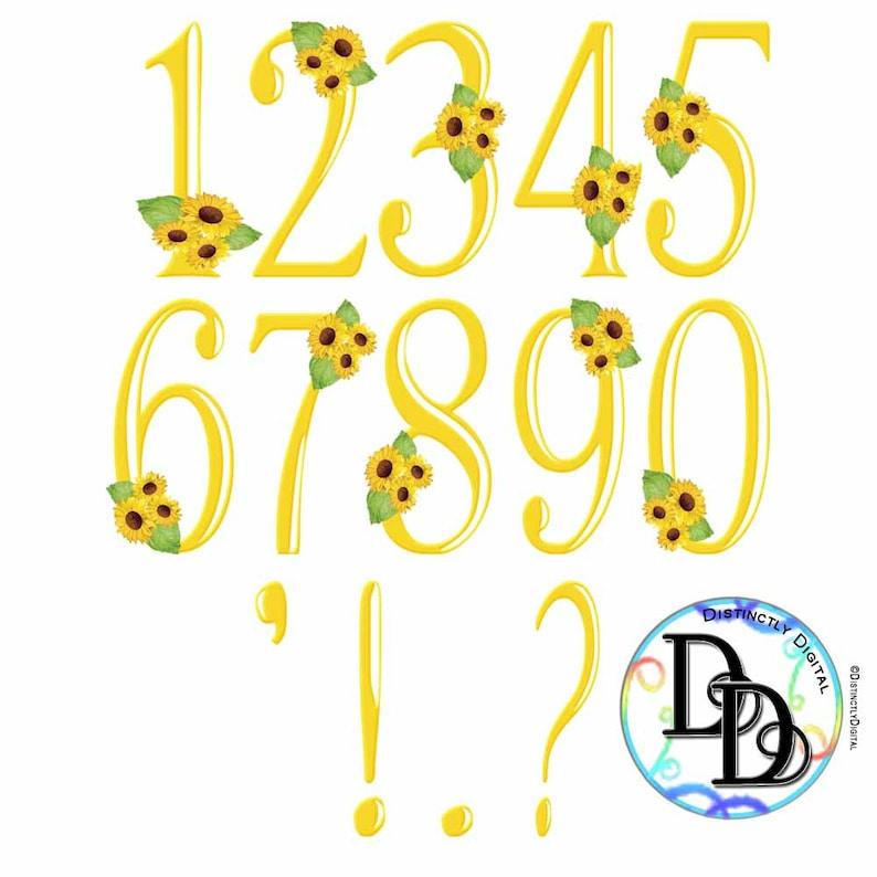 Yellow Sunflower Alphabet Digital Clip Art Printable ...